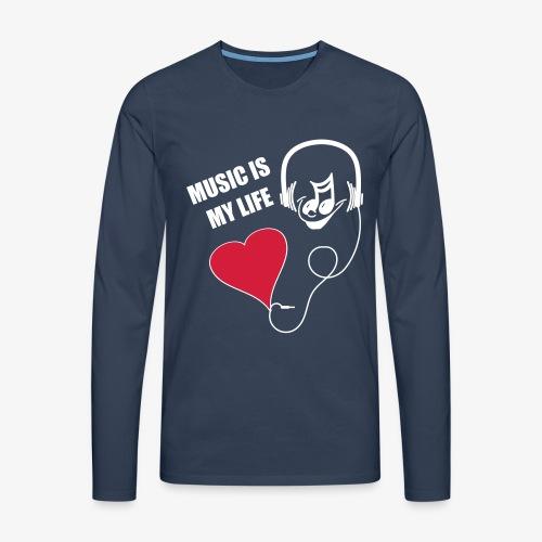 Music - Männer Shirt - Männer Premium Langarmshirt