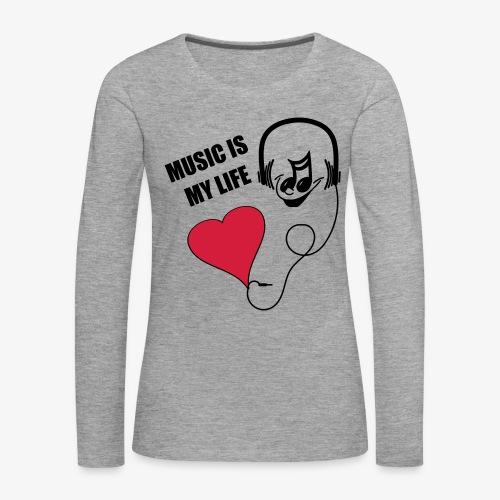 Music - Frauen Shirt - Frauen Premium Langarmshirt