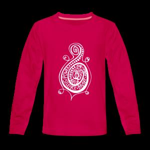 Das Ornament Schildi - Teenager Premium Langarmshirt