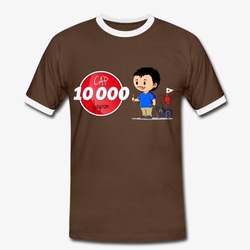 T-shirt contraste Cap 10.000 Japon Homme - T-shirt contrasté Homme