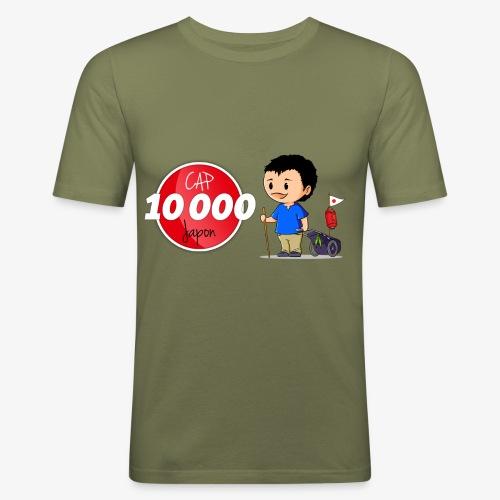 T-shirt près du corps Cap 10.000 Japon Homme - T-shirt près du corps Homme