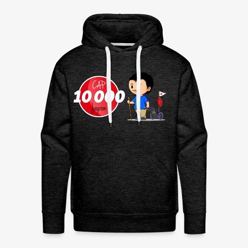 Sweat-shirt à capuche Premium Cap 10.000 Japon pour hommes - Sweat-shirt à capuche Premium pour hommes