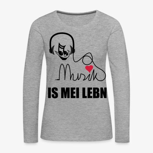 Musik is - Frauen Shirt - Frauen Premium Langarmshirt