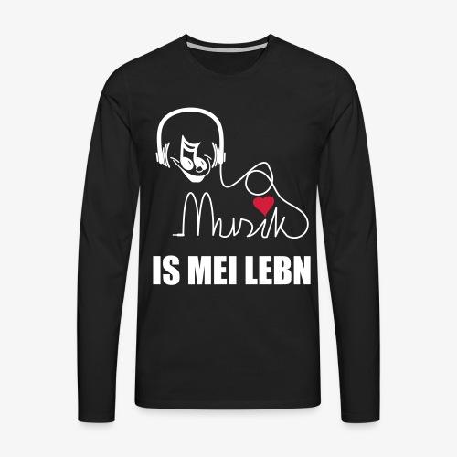 Musik is - Herren Shirt - Männer Premium Langarmshirt