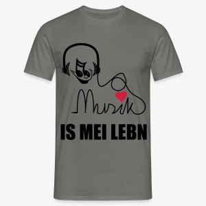 Musik is - Herren Shirt - Männer T-Shirt