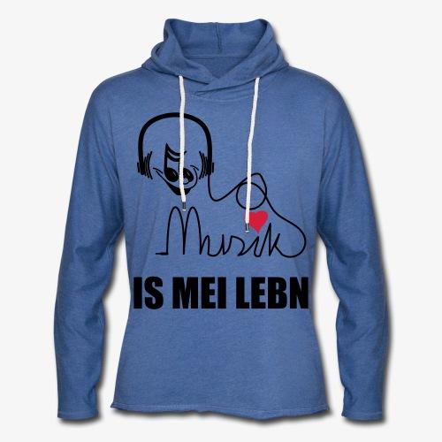 Musik is - Herren Kapuzenshirt - Leichtes Kapuzensweatshirt Unisex