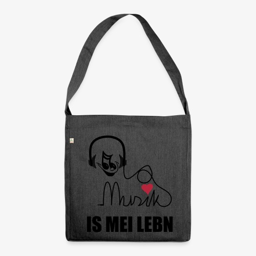 Musik is - SUTO Schultertasche - Schultertasche aus Recycling-Material