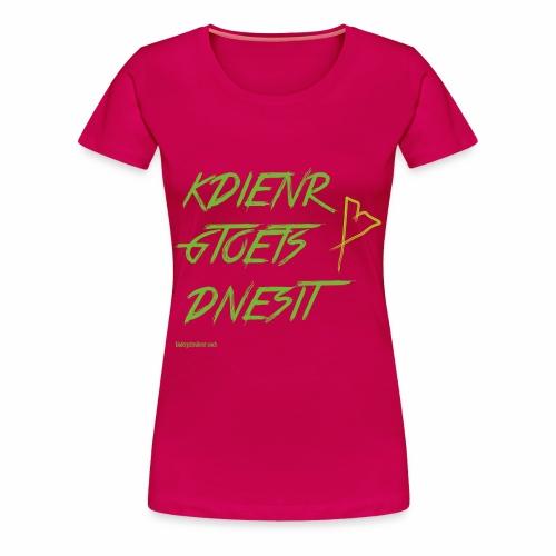 Buchstabenwirrwarr - Frauen Premium T-Shirt