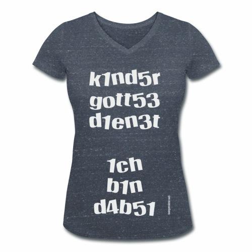 KIndergottesdienst-Zahlenwirrwarr - Frauen Bio-T-Shirt mit V-Ausschnitt von Stanley & Stella