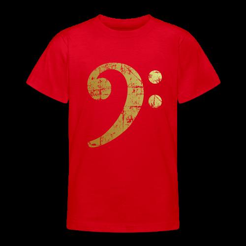 Bassschlüssel Teenager T-Shirt (Gold Patina) - Teenager T-Shirt