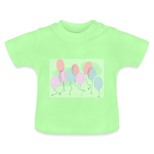 Baby ballons Vert - T-shirt Bébé