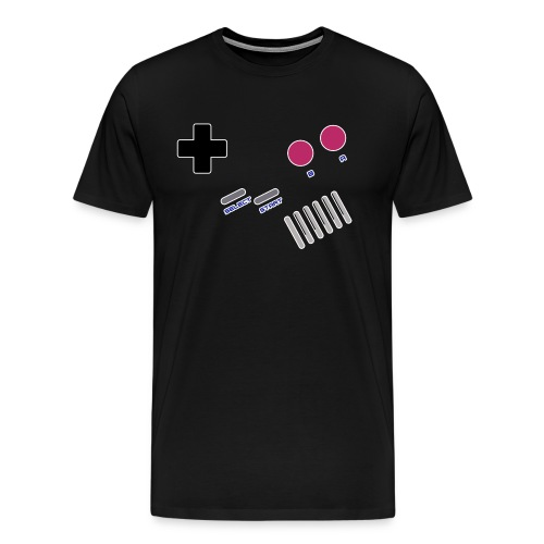 T-shirt Homme Premium Manches courtes | Manette de jeu - Console Portable GB retrogaming - T-shirt Premium Homme