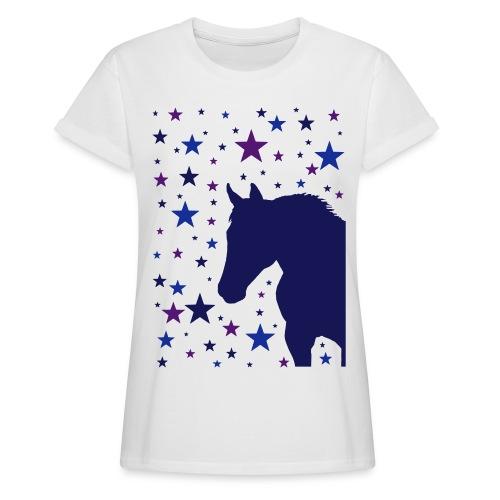 Pferd und Sterne-1 - Frauen Oversize T-Shirt