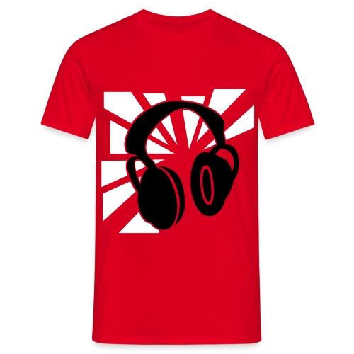 headphone - red - Men's T-Shirt