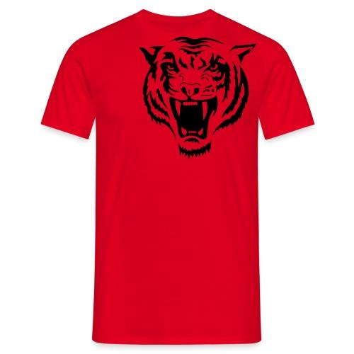 tiger - red - Men's T-Shirt