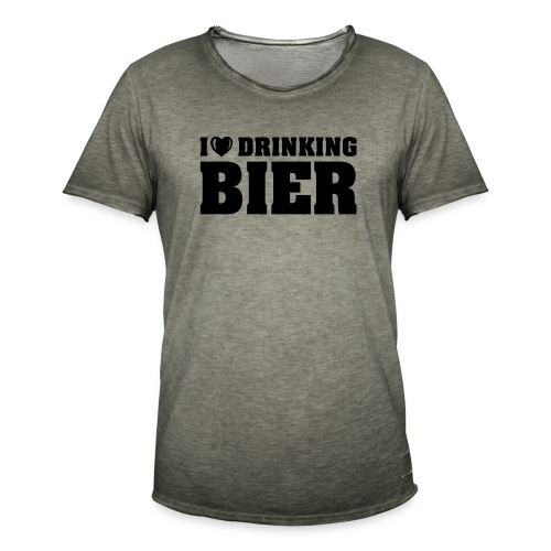 I love drinking Beer - Männer Vintage T-Shirt