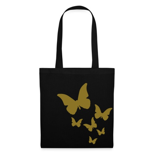 butterfly tote bag gold - Tote Bag