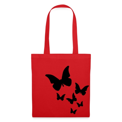 butterfly tote bag red - Tote Bag