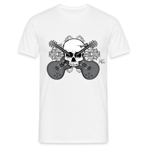 GuitarrSkull - Men's T-Shirt