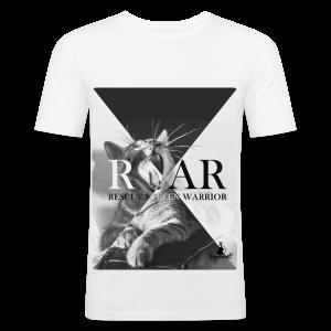 Rescue Kitten Warrior White (Male) Limited - slim fit T-shirt