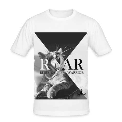 Rescue Kitten Warrior White (Male) Limited - slim fit T-shirt