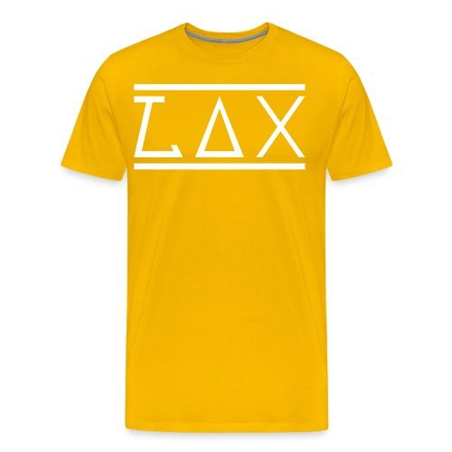 LAX WHITE PRINT T-SHIRT, MEN - GREY - Männer Premium T-Shirt