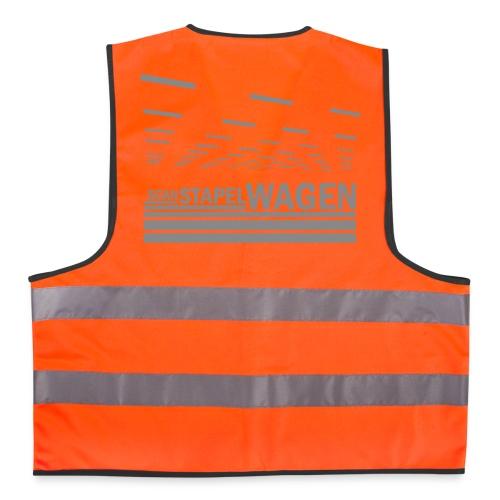 Scan STW silver text FLURO vest - Reflective Vest