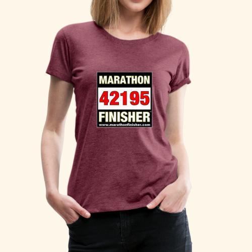 MARATHON FINISHER 42195 woman - Women's Premium T-Shirt