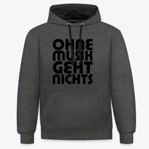 Ohne Musik - Männer Hoodie - Kontrast-Hoodie