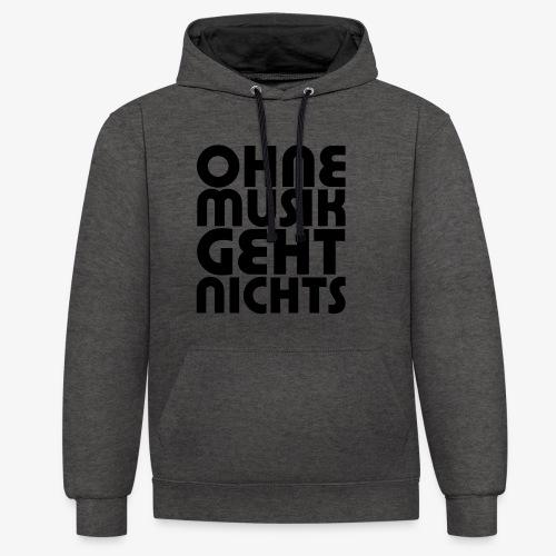 Ohne Musik - Frauen Hoodie - Kontrast-Hoodie