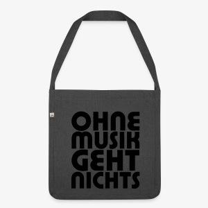 Ohne Musik - SUTO Schultertasche - Schultertasche aus Recycling-Material