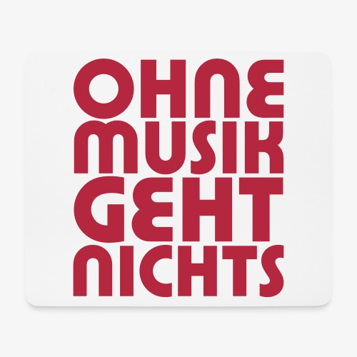 Ohne Musik - SUTO Mousepad - Mousepad (Querformat)