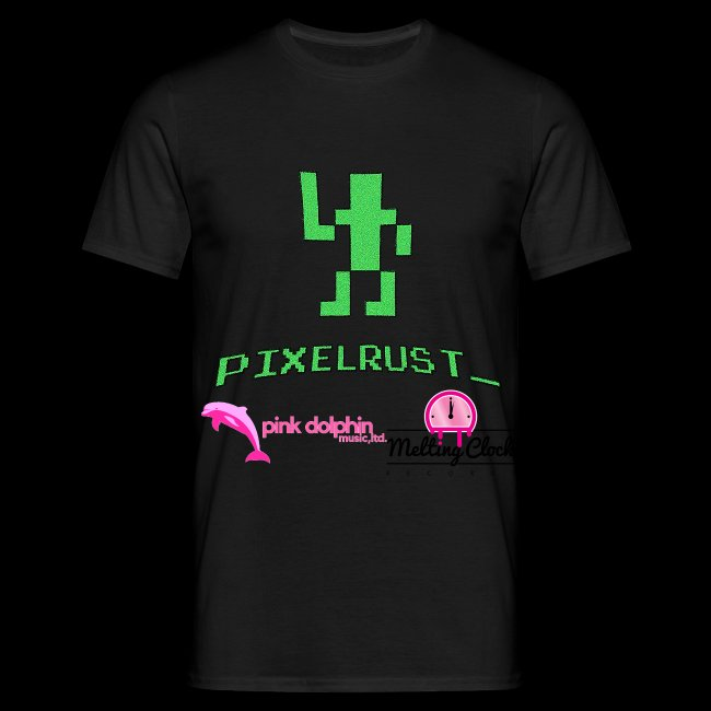 PixelRust black logo Men's t-shirt