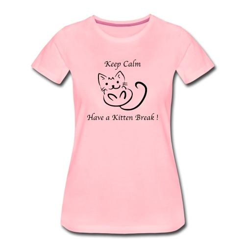 Nouvelle Année TT-shirt Premium Femme Kitten Break - T-shirt Premium Femme