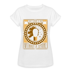 Can't start a fire yellow gold - Vrouwen oversize T-shirt