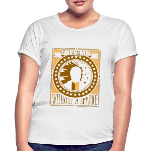 Can't start a fire yellow gold - Vrouwen oversize T-shirt