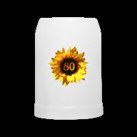 Sonnenblume zum 80. Geburtstag Tassen & Zubehör