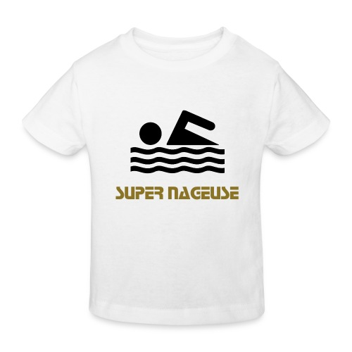 T-shirt enfant super nageuse or - T-shirt bio Enfant
