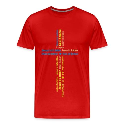 Jesus ist Liebe - Männer Premium T-Shirt