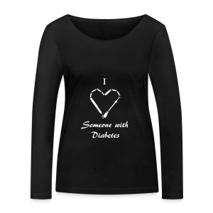 I Love Someone With Diabetes - Needle Design - White - Women's Organic Longsleeve Shirt by Stanley & Stella