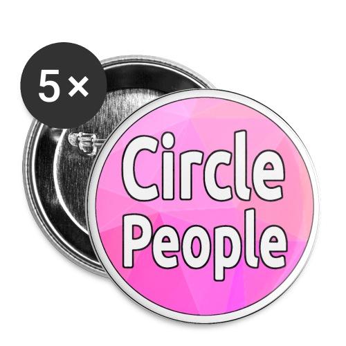 Circle People Logo Pin - Buttons large 56 mm