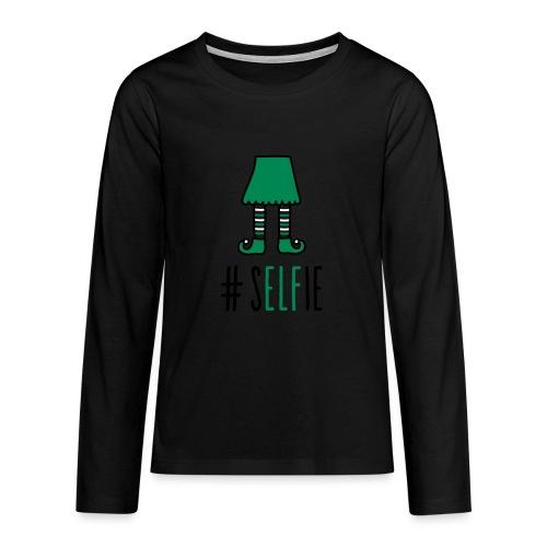 Teenager-Shirt: Christmas (S)Elfie - Teenager Premium Langarmshirt