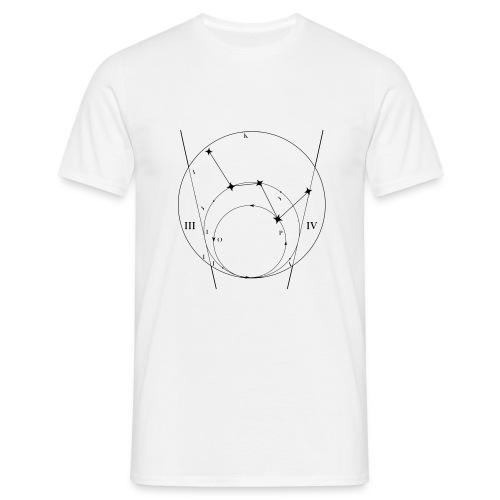 Sternkarte weiß - Männer T-Shirt
