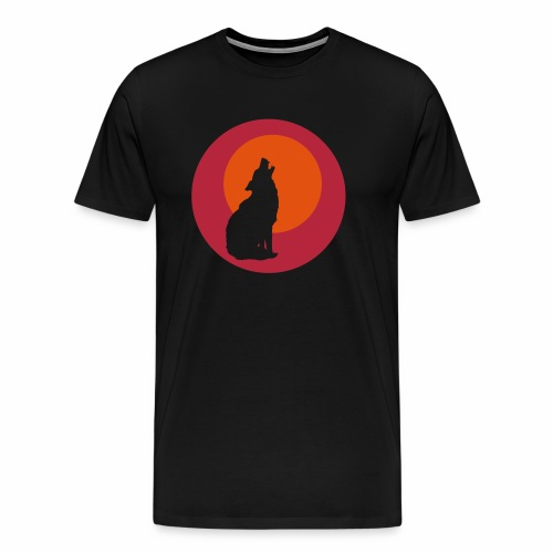 Heulender Wolf - Männer Premium T-Shirt