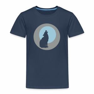 Heulender Wolf - Kinder Premium T-Shirt