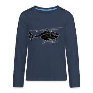 Hubschrauber 2 - Teenager Premium Langarmshirt