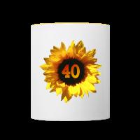 Sonnenblume zum 40. Geburtstag Tassen & Zubehör
