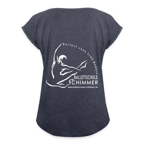 Damen-Shirt mit gerollten Ärmeln  - Frauen T-Shirt mit gerollten Ärmeln