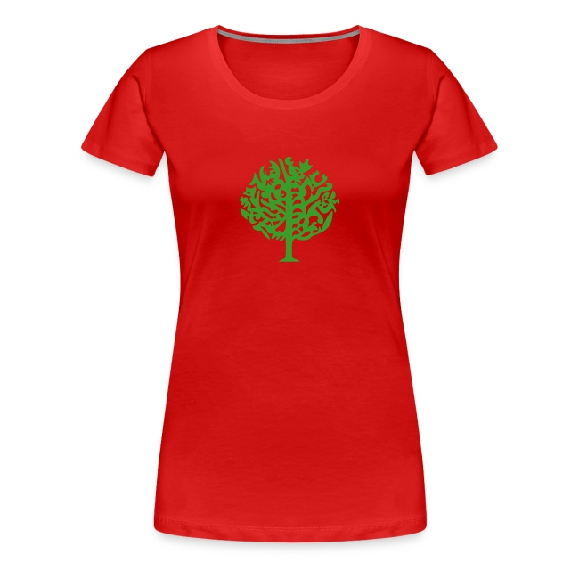 Schattenriss-Baum-Frauen-Shirt