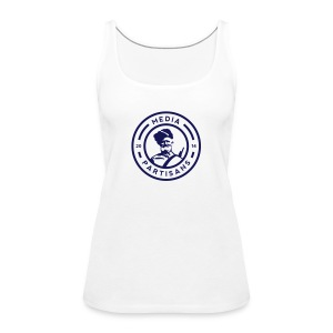 MP - Damen Tank Top - Flock Logo in dunkelblau - Frauen Premium Tank Top